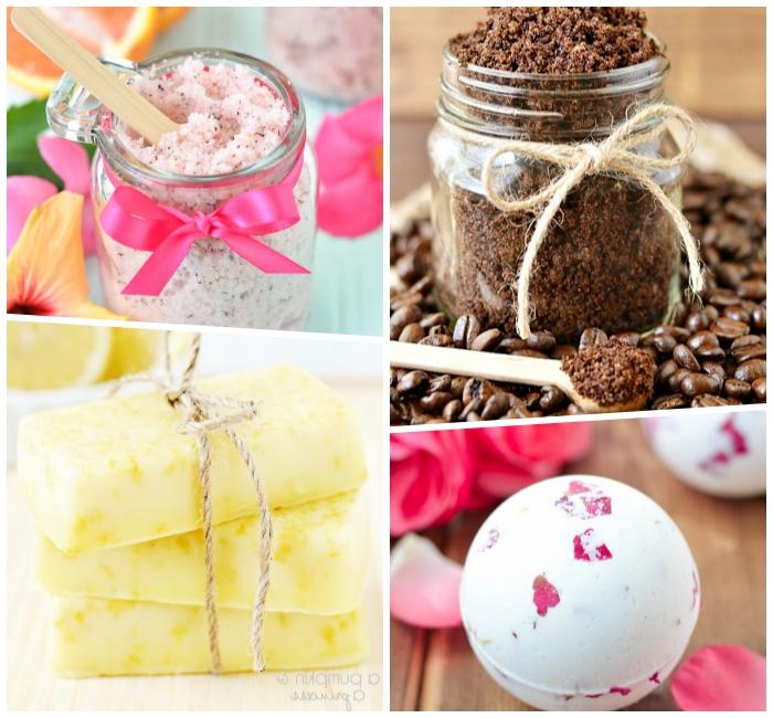 körperpeeling mit kaffee, badesalz mit rosenöl, seifen selber machen, besondere muttertagsgeschenke