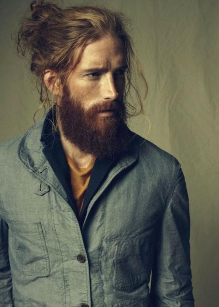 männerfrisuren und bartstyle ideen, langes haar gut pflegen und mit einem wilden look formen