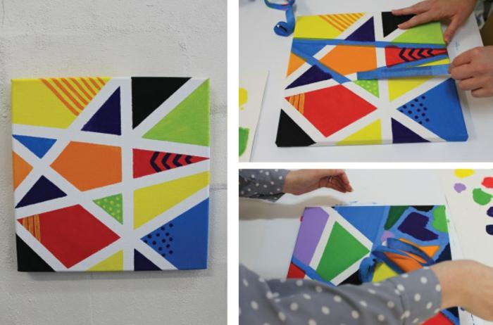 Coole Bastelideen, buntes Design, Basteln und Malen, aufkleben und Bilder Dekorieren
