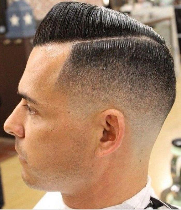 Frisuren mittellang stufig mit Pony oder ohne, kurze Haarstyles elegante Gestaltung Männerfrisur Trends
