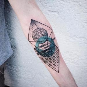 Geometrische Formen auf der Haut - mehr als 60 Ideen für originelle geometrische Tattoos