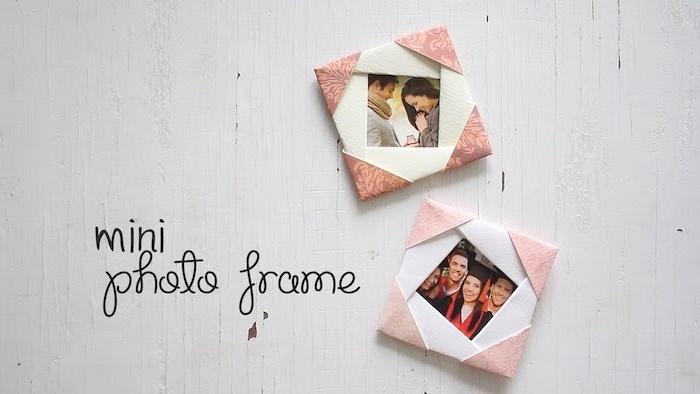 DIY kleine Bilderrahmen aus Tonkarton, schönes DIY Geschenk zum Valentinstag oder für anderen Anlass