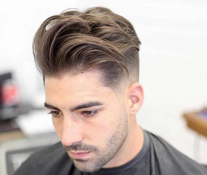 männer frisuren ideen zum entlehnen, haare stylen, gelassen und gepflegt, nach hinten und seitlich gekämmt