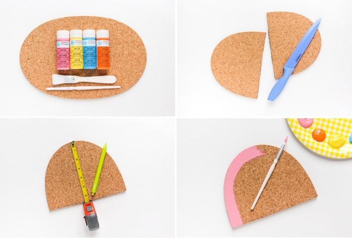 muttertagsgeschenk basteln, diy geschenk, mousepad selber machen, bunte farben
