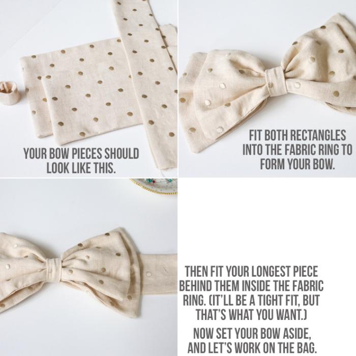 diy geschenk, muttertagsgeschenke basteln tipps, beige stoff, schleife nähen anleitung