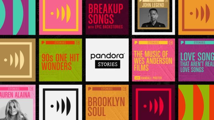 ein Collage mit allen Künstler die als Start zu Pandora Stories dienen