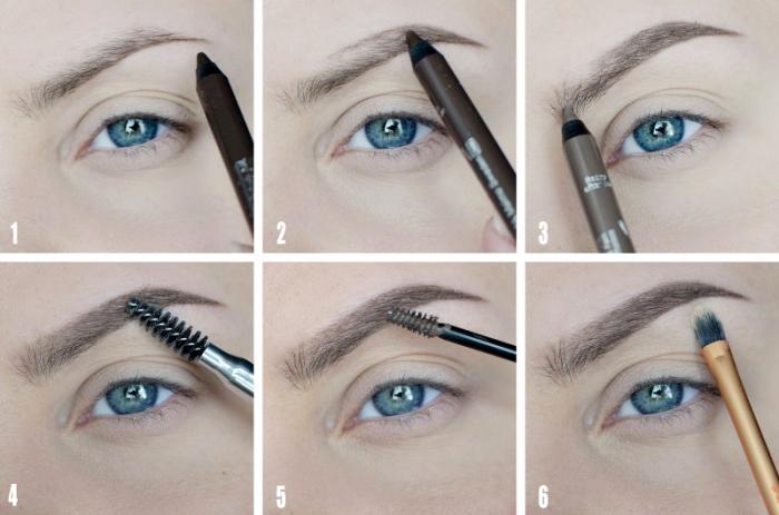blaue augen, brauner stift, perfekte augenbrauen schminken, make up tipps