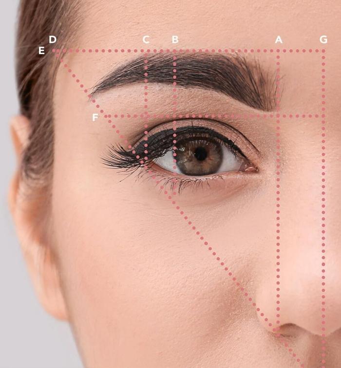 perfekte augenbrauen schminken nach der gesichtsform, augenbrauenform bestimmen anleitung