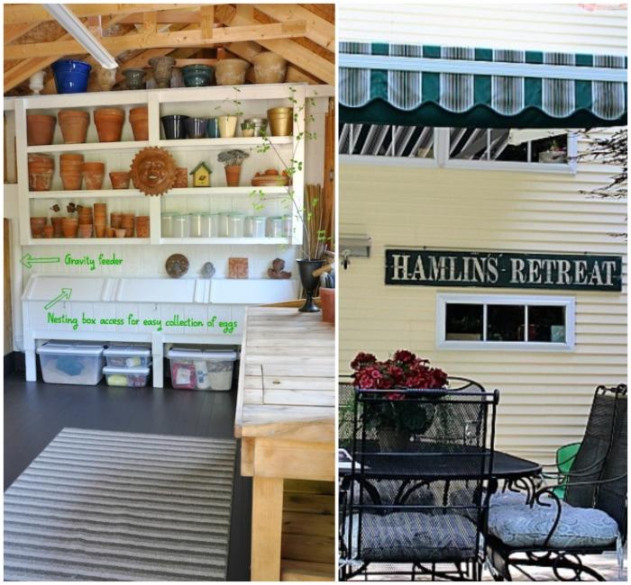 Gartenhaus mit Anbau, ein Wellnesszentrum selber bauen im eigenen Garten, Ideen, Metall Gartenmöbel Set