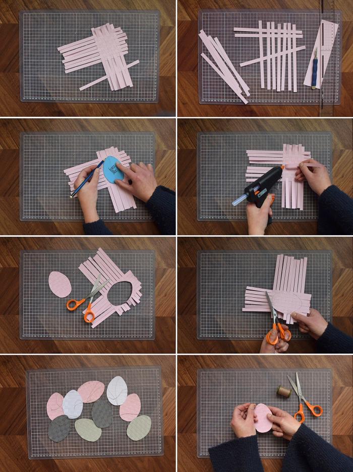bastelideen frühling, diy tutorial, papier eier selber machen, osterdeko anleitung