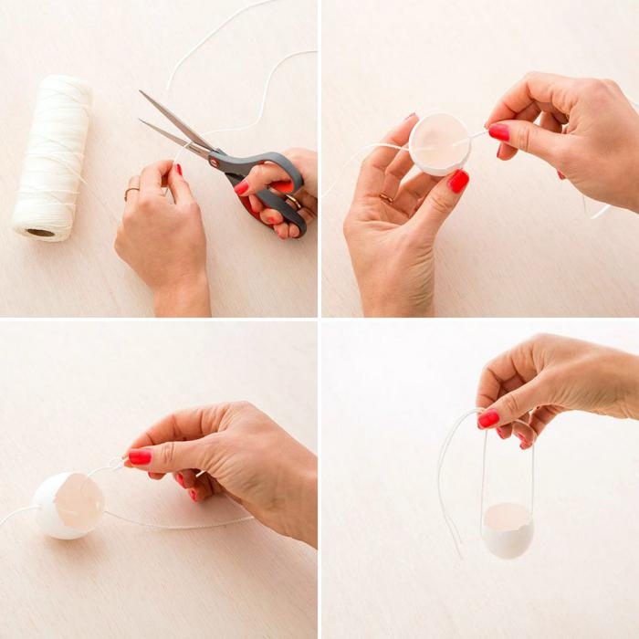 deko zum ostern, bastelideen mit anleitung, vase aus eierschale anfertigen, roter nagellack