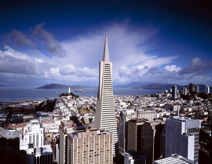 San Francisko, blauer Himmel, ein Panorama von der Stadt, Bilder modern, eine schöne Landschaft