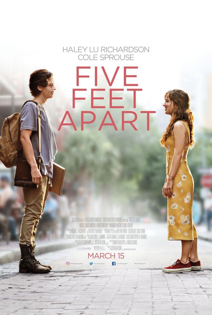ein Poster, die beiden können nicht einander nah kommen, Five Feet Apart