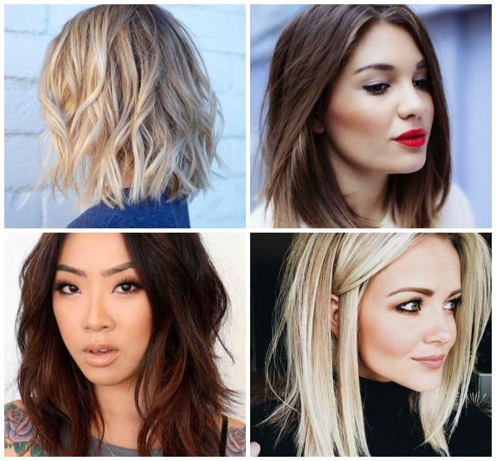 frisuren mittellang stufig, trendige haarstyles für frauen, kurzhaarfrisuren damen 2019