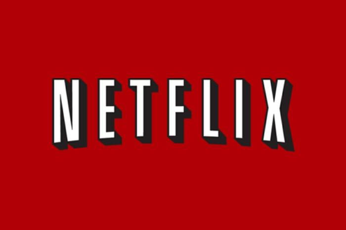 das Logo von Netflix, weiße Buchstaben auf einem roten Hintergrund