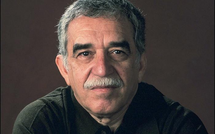Gabriel Garcia Marquey in 1990, der weise Blick vom Schriftsteller, weißer Schnurbart