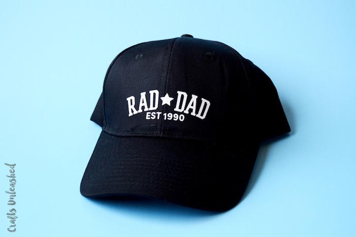 Personalisierte Kappe zum Vatertag schenken, Kappe selber bedrucken, DIY Geschenkidee