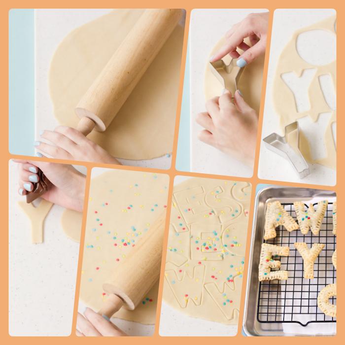 Kekse in Form von Buchstaben selber backen, Geschenke aus der Küche zum Vatertag
