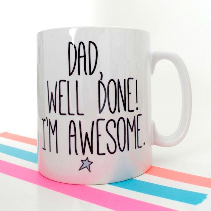 Tasse zum Vatertag mit lustiger Aufschrift, kreative Geschenke für Väter