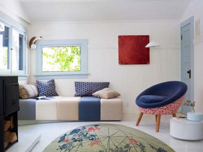 Gartenhaus Flachdach Ideen zum Dekorieren und Einrichten in skandinavischem Stil mit Pastellfarben