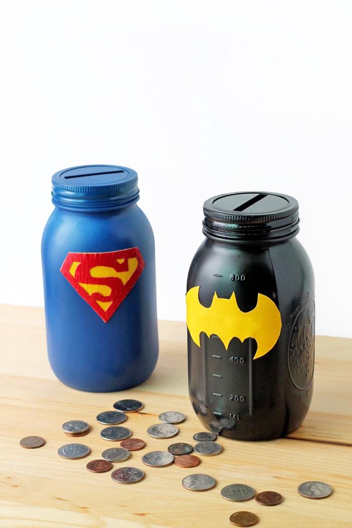 viele münten, diy bastelideen, kinderspardose aus einmachglas, selbstgemachte geschenke
