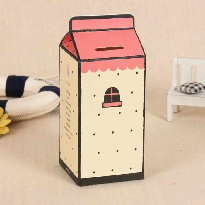 kinderspardose selber machen, sparbox aus milchbox, upcycling ideen, kleines haus