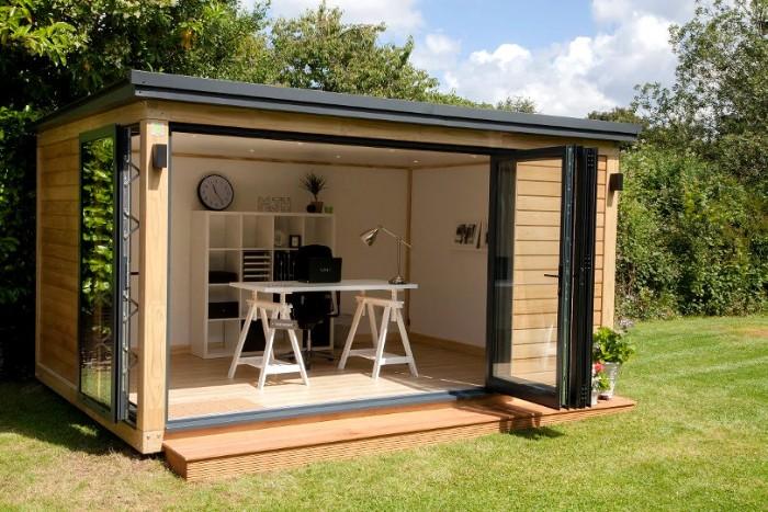 kleine Gartenhäuser Ideen zum Nachmachen und Gestalten, Deko Idee, Holzhaus klein