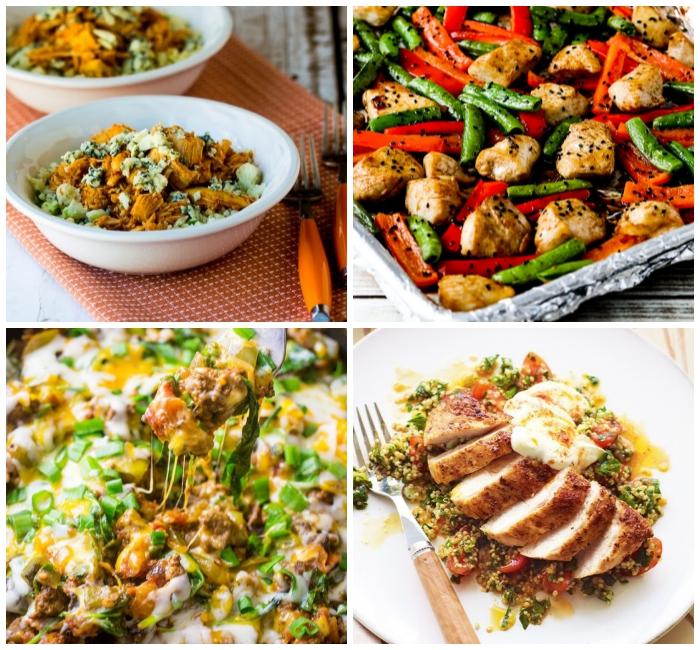 kohlenhydratfreies essen, hühnerfbrust mit grünen bohnen und rotem paprika, rezepte mit hühnerfleisch