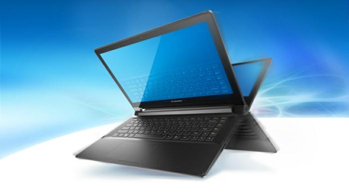 ein Laptop spiegelt sich wider, Intel Verarbeiter, Laptop Display