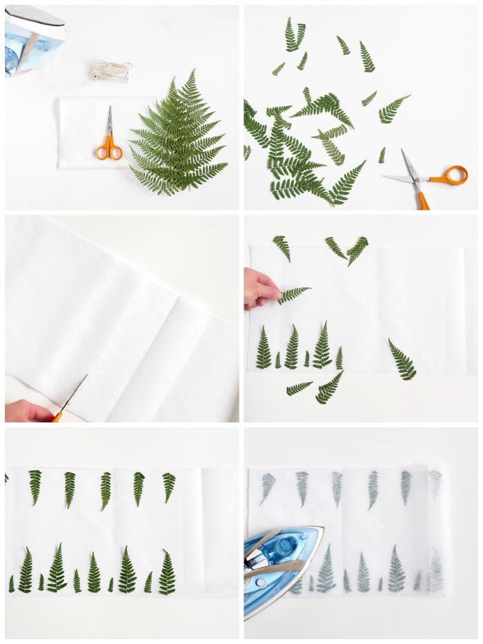 grüne blätter, laternen basteln mit kindern unter 3 jahren, diy laterne aus wachspapier