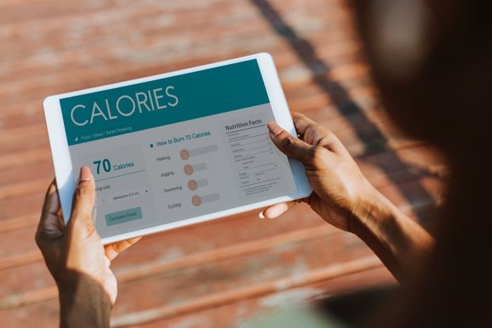 low carb diät, weißes tablett, gesund abnehmen app, kalorien zählen