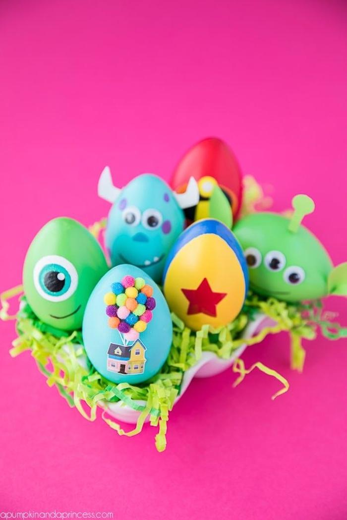 Disney Ostereier mit Kindern färben, coole DIY Ideen zu Ostern zum Nachmachen