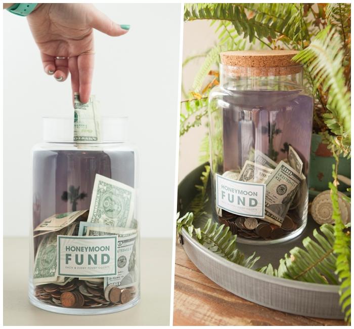 spardose basteln, einfache anleiutng schritt für schritt, geld sammeln, großes glas mit münzen
