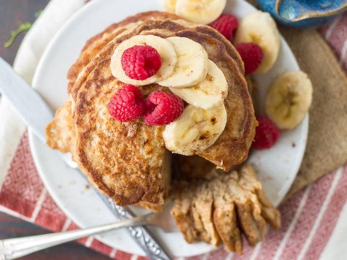 rezept für Vegane Pfannkuchen mit Banane