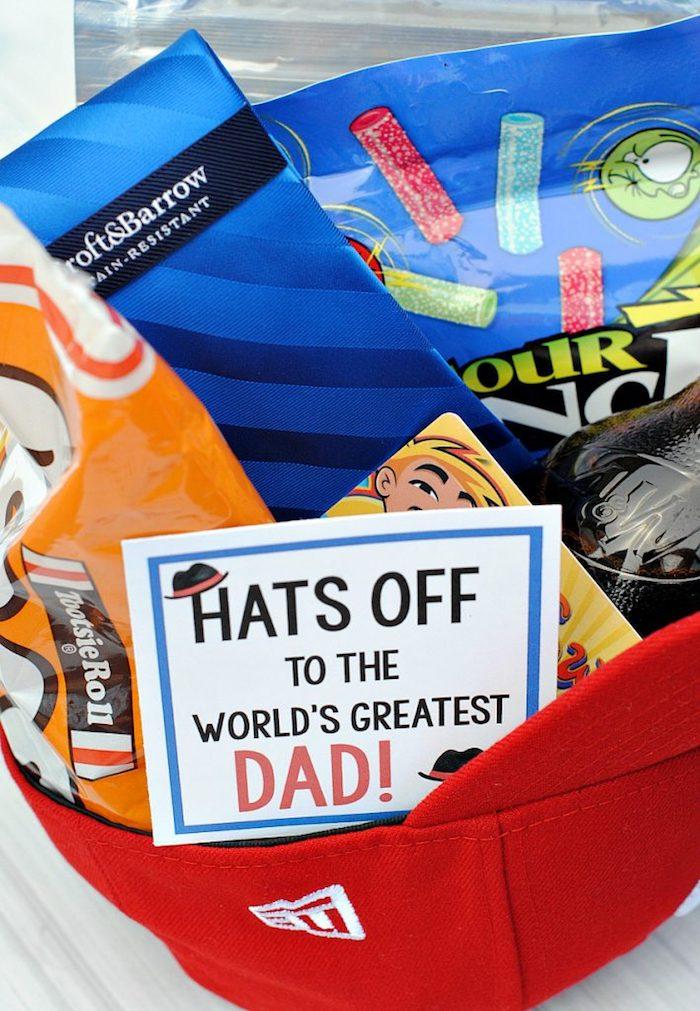 Geschenk Set für Väter, bester Vater der Welt, Süßigkeiten zum Vatertag schenken