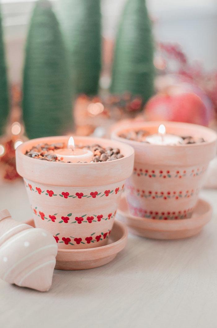 Teelichtofen selber machen, aus einfachem Blumentopf, Geschenkidee für Weihnachten zum Selbermachen