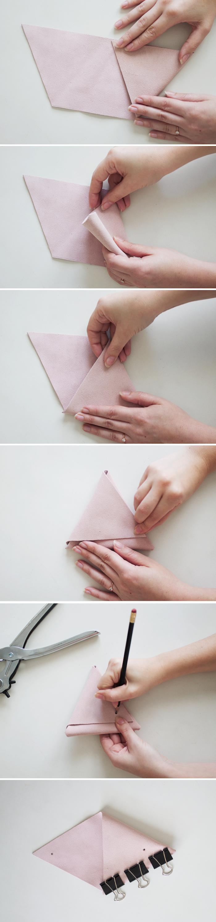 Kleine Geldtaschen selber nähen, Anleitung in sechs Schritten, DIY Ideen mit Anleitung