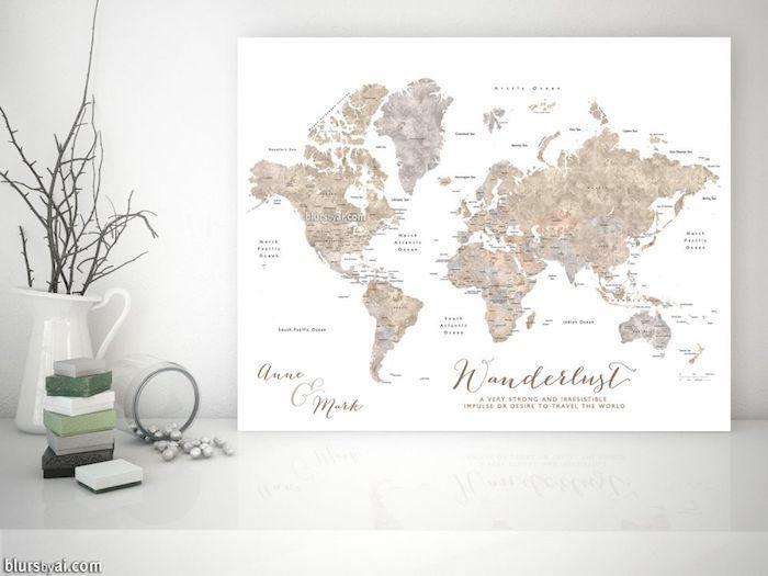 geschenk 40 geburtstag mann, reiselustige männer freuen sich auf rubbelkarte, stretch karte