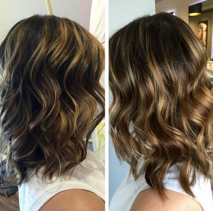 blond balayage ideen, schritt für schritt die haarfarbe heller gestalten, balayage mit blonden tönen