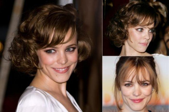 bob frisuren stufig, collage mit drei bildern von der berühmten schauspielerin, schöne hollywood stars