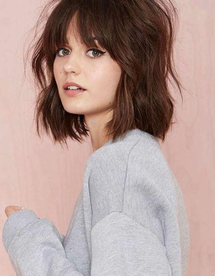 bob frisuren stufig eine idee zum legeren styling vom haar in natürlicher farbe