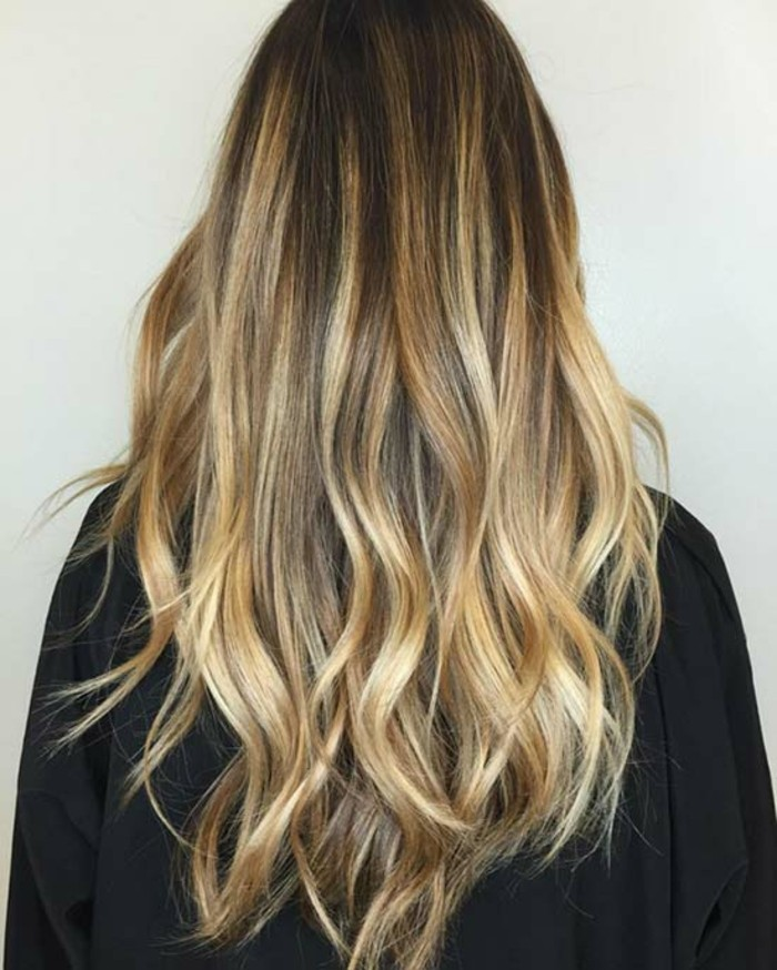 balayage vs ombre, blondes haar, ideen, stil ideen, glänzende haare