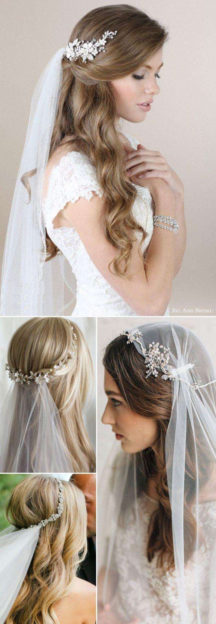 ▷ 10 + Ideen für faszinierende Brautfrisuren mit Schleier