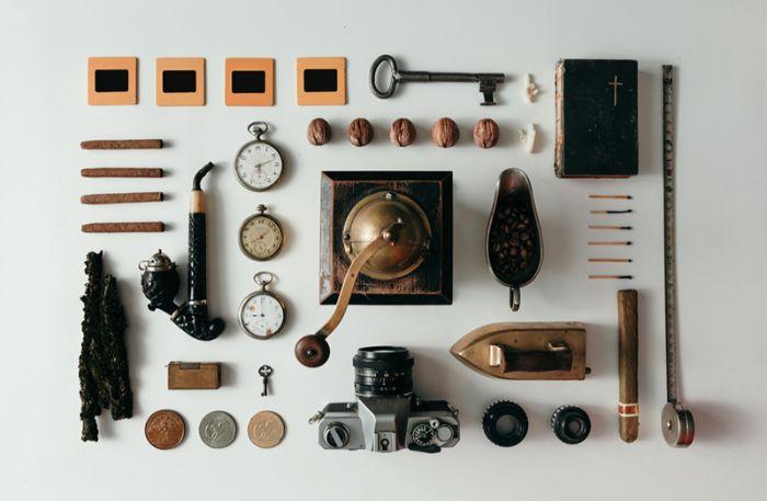 coole geburtstagsgeschenke, vintage geschenkideen, kamera, geschenke, wanduhr