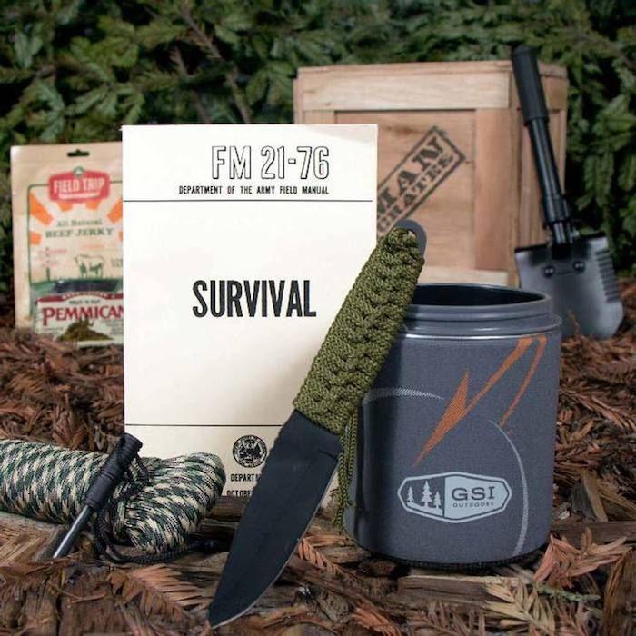 geschenke für männer selber machen, survival kit, geschenkidee für wanderlustige