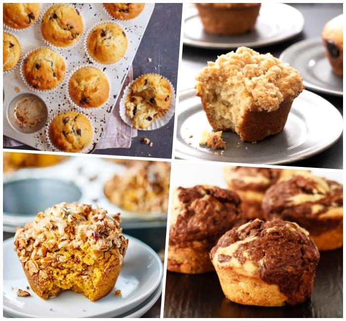 marmor muffins zubereiten, cupcakes rezepte einfachmini gebäcke mit haferflocken, partyessen