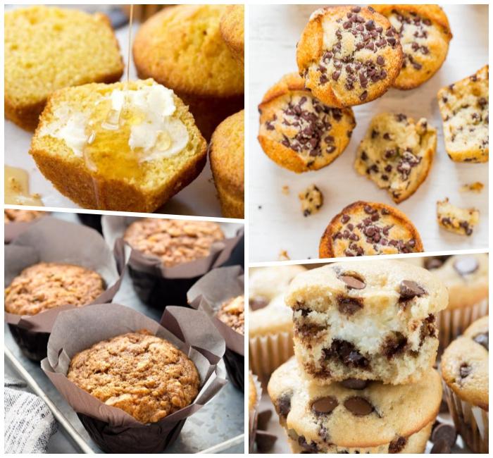 cupcakes rezepte einfach, verschiedene ideen, muffins mit honig und vanille, kinderparty ideen