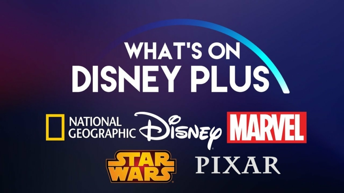 ein blauer Hintergrund, alle Partner von Disney, die an der neuen Streaming-Dienst teilnehmen