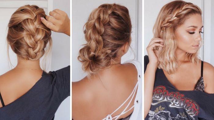 trendfrisuren 2019 frauen, drei haarfrisuren inspirierende ideen zum entlehnen, schöne blonde haare