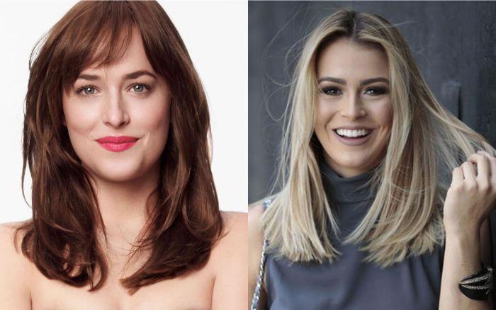 schulterlange haare frisuren, zwei schöne schauspielerinnen, frisur ideen durchschnittliche länge